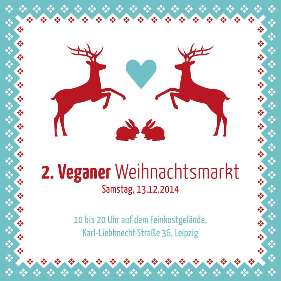 Flyer veganer Weihnachtsmarkt