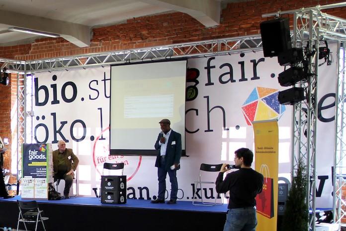 Vortrag auf der Bühne