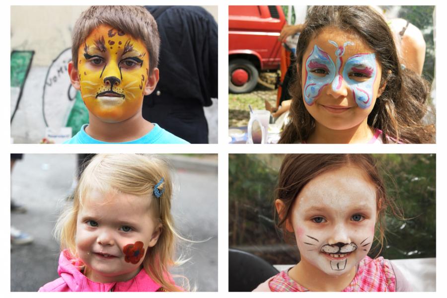 geschminkte Kinder auf der BRN 2016