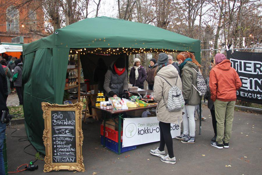 Kokku-Stand auf dem 2. veganen Wintermarkt Dresden