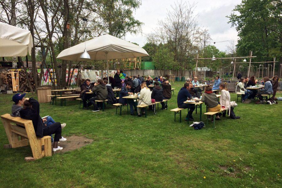 veganer Frühlingsbrunch im Golgi-Park 2017